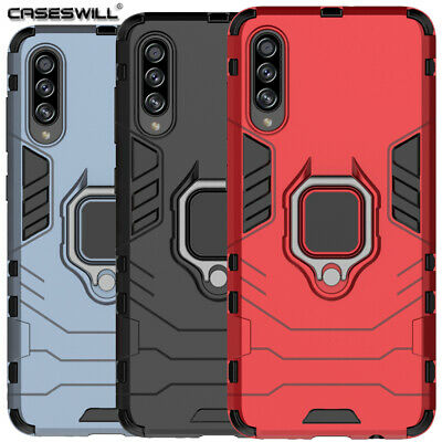 For Samsung Note10 S10 S9 Plus S10e A50 A20 Hybrid Armor Ring Stand Case Cover