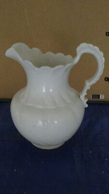 Antique Large White Porcelain Water Pitcher Admirial V.P. Co /Wash Basin