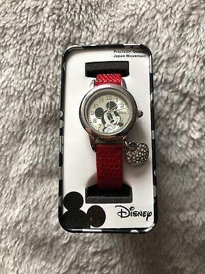 Disney Mickey Mouse Girls Watch Collectors Item BRAND NEW IN BOX Needs Battery