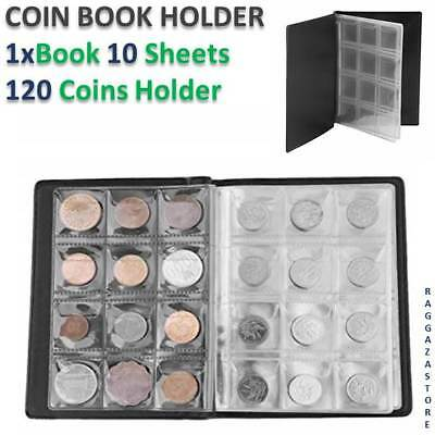 1x Coin Stock Storage Collection Album Book Holder Pockets Penny Money