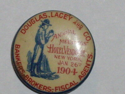 Douglas Lacey and co. 1904 advertising lapel stud button