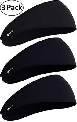 e53f0beab08 Self Pro Mens Headbands 2 or 3 Pack Guys Sweatband   Sports Assorted Colors