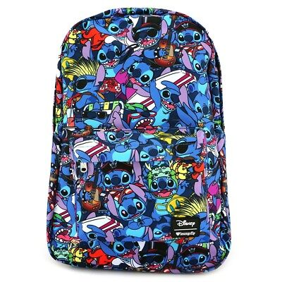 Loungefly Disney Lilo and Stitch Costume Print School Book Bag Backpack  WDBK0332 0930f6fbfa928