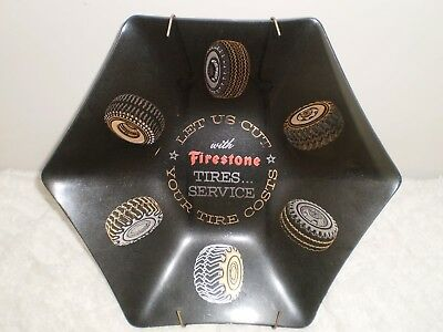 Firestone Tires Service Glass Hexagon Tray/Dish