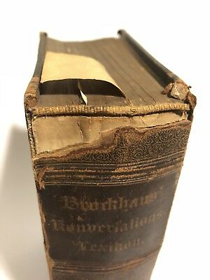 Antique Rare 1800s Book / Brockhaus Konverlation Lexicon 1894 Complete Book