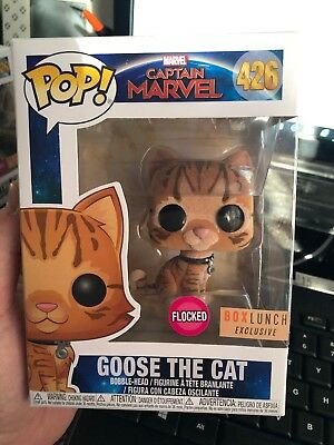 Funko Pop Captain Marvel Goose the Cat Flocked Box Lunch Exclusive In Hand