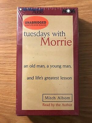 Tuesdays with Morrie  by Mitch Albom Unabridged on 3 Cassette's Audiobook