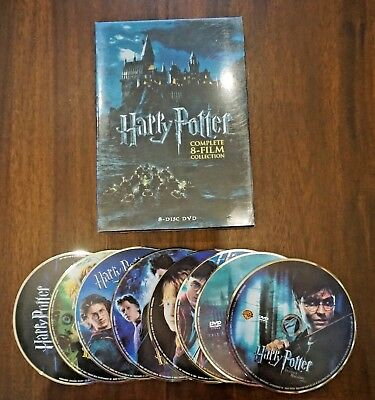 Harry Potter Complete 8-Film Collection DVD, 2011, 8-Disc Set SAME DAY SHIPPING