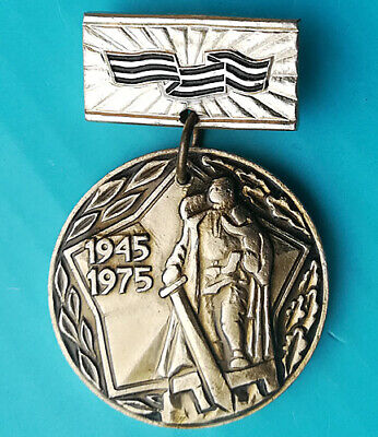 WWII WW2 veteran pin badge issued by Latvian Komsomol VLKSM - Soviet medal award