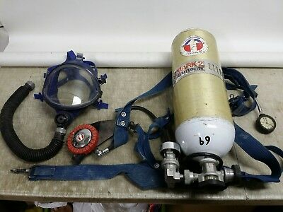 Scott Survivair MARK 2 SCBA Rescue Air Supply Backpack Apparatus Mask Tank 1