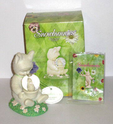 "NWT - Department 56 Snowbunnies ""BUNNY KISSES"" Waterglobe Figurine - So Cute!"
