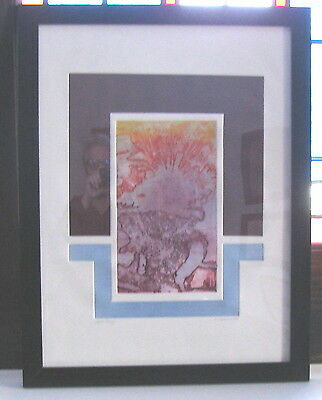 Vtn 1972 ABSTRACT ETCHING artist KATHY CARACCIO signed dated ARTIST PROOF 1of 1