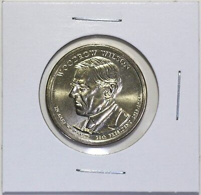 2013 D Woodrow Wilson Presidential Dollar Coin Uncirculated Denver BU