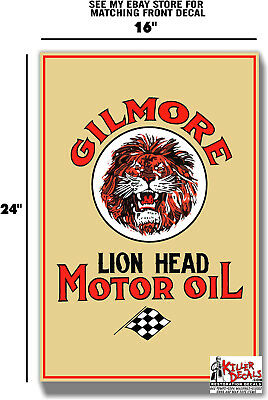 """(Gilm-Lub-2) 24"""" X 16"""" Gilmore Side Large Lubster Decal Oil Tank Gas Gasoline"""