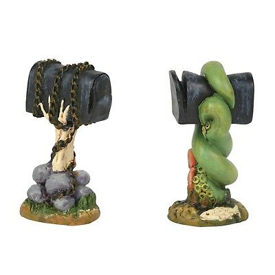 Creepy Mailboxes Set of 2 Figurine Dept 56 Halloween Village Accessory