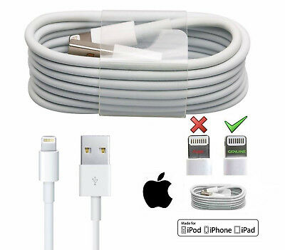 2M Apple iPhone 8 6+ 5 7 Plus iPad Lightning USB Data Charger Lead Genuine Cable