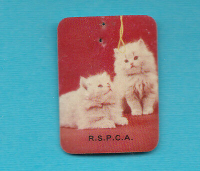 RSPCA Celuloide Badge WW11 1 1/2 Inches Long with Pin