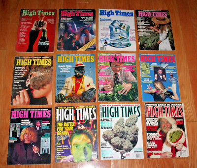 Lot of 12 High Times Magazines 1970s 1980s 1990s