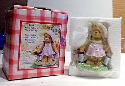 Cherished Teddies 2003 MEMBERSHIP  Leah Figure New in Box