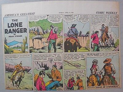 Lone Ranger Sunday Page by Fran Striker and Charles Flanders from 4/12/1942