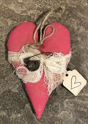 Primitive Made *Hanging Pink Heart* Valentine