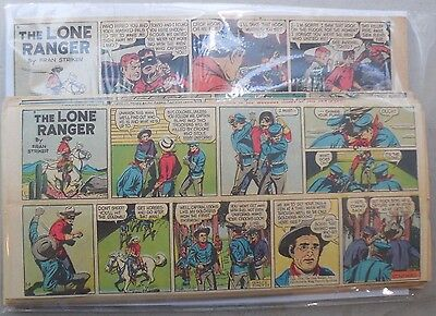 (31) Lone Ranger Sunday Pages by Fran Striker and Charles Flanders from 1950