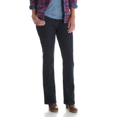 (Size 14 ) NWT Rider's by LEE Women's Fleece Lined Mid Rise Boot Cut Denim Jeans