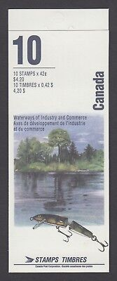 CANADA BOOKLET BK145a 10 x 42c HERITAGE RIVERS, WATERWAYS OF INDUSTRY, GLUED
