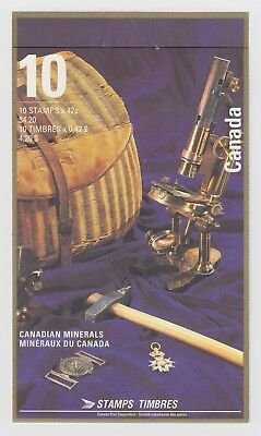 CANADA BOOKLET BK147b10 x 42c CANADIAN MINERALS, OPEN COVER WITH TI