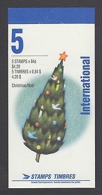 CANADA BOOKLET BK152b 5 x 84c CHRISTMAS - WEIHNACHTSMANN OPEN, COVER WITH TI