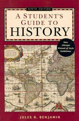 A Student's Guide to History by Benjamin, Jules R. Paperback Book The Cheap Fast