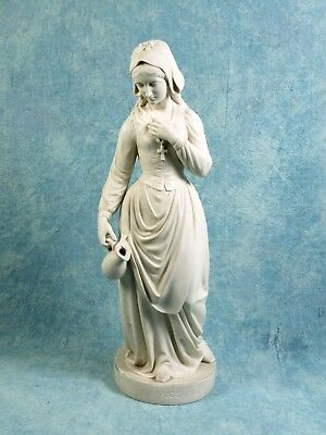 1865 Copeland Parian Figurine S. Terry Evangeline Statue Large Sculpture Antique