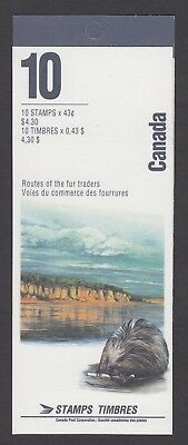 CANADA BOOKLET BK170b 10 x 43c ROUTES OF THE FUR TRADERS OPEN COVER WITH TI