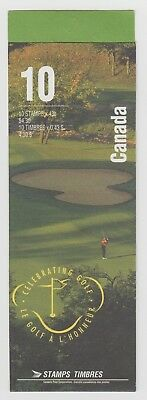CANADA BOOKLET BK176b 10 x 43c GOLF IN CANADA OPEN COVER WITH TI