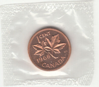 1968 Canada 1 Cent Sealed From Proof-Like Set