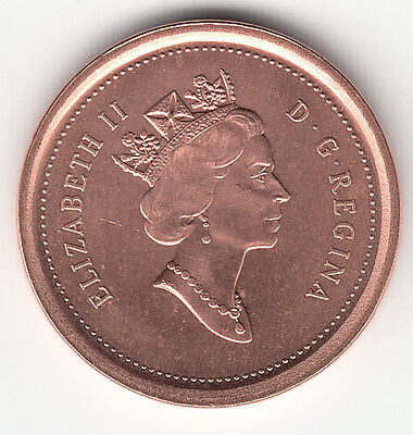 2003 (No P) Canada 1 Cent Old Effigy Non-Magnetic UNC From Mint Roll