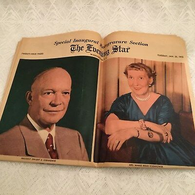 Lot Dwight D. Eisenhower Memorabilia Evening Star Newspaper 1953