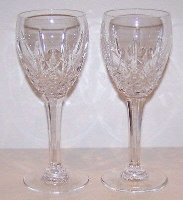 """Stunning Pair Of Marquis By Waterford Crystal Laurent 7 1/8"""" Wine Glasses     #1"""