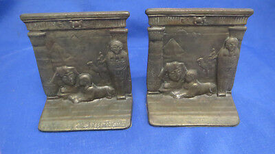 Vintage Judd 9900 Cast Iron Egyptian Bookends