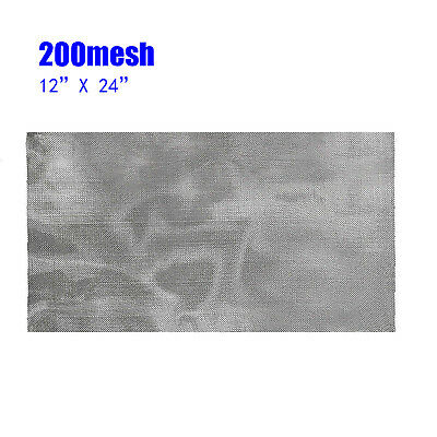 12x24 200 Mesh /75 Micron 304 Stainless Steel Fine Pollen Dry Ice Screen Silver