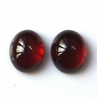 8X10 MM Oval Shape Natural Pyrope Red Garnet Cabochon 2 Piece Loose Gemstone Lot