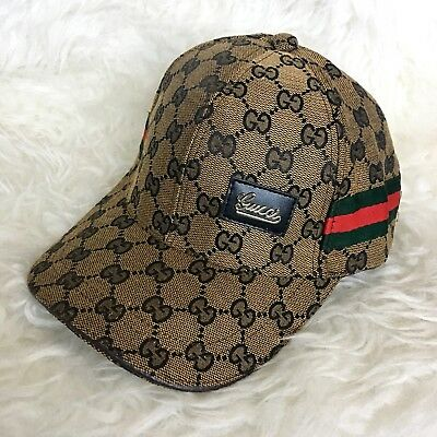 93045a8cea8 NEW GUCCI WOMEN S Brown 309138  435 Wide Brim Floppy Interlocking GG ...