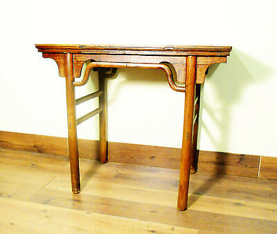 Antique Chinese Console (Wine) Table (5367), Cypress/Elm, Circa 1800-1849