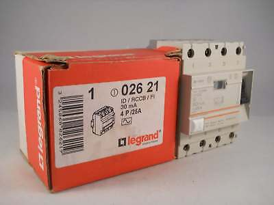 Legrand RCD 25 Amp 30mA Four Pole RCCB 25A Lexic 02621 NEW