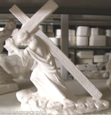 Ceramic Bisque Ready To Paint Jesus - the Way of the Cross 25cm tall