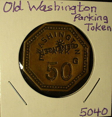 Washington Counterstamped Parking Token