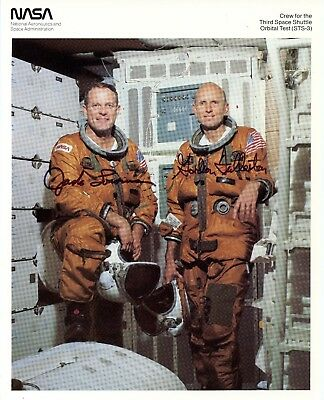 Astronaut Archives Offers Complete Crew Signed Sts 3 & 4 Nasa Litho Portraits