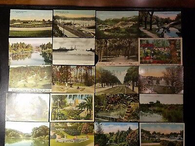 Post Card Collection of 46 Park Scenes, Across the United States