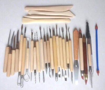 Model Carving Tools Craft Clay Wooden Metal 30 pieces - ALL NEW UK SELLER