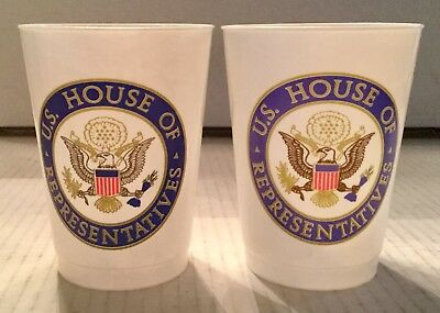Official House Of Representatives Plastic Cups Set Of 2